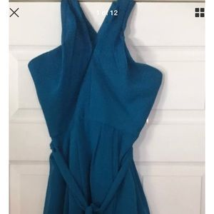 Blue Kennedy cocktail dress peacock blue size 6